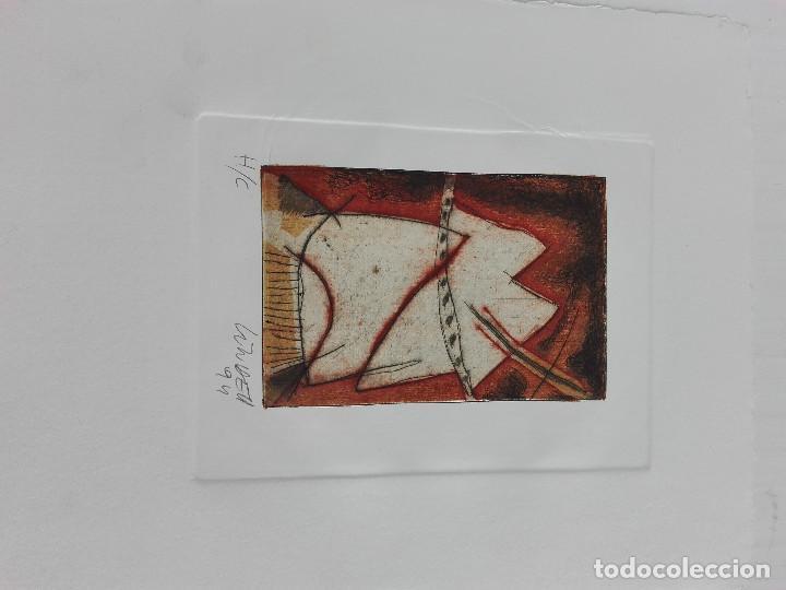 GRABADO SOBRE PAPEL DE JORGE LINDELL, FIRMADA (Arte - Grabados - Contemporáneos siglo XX)