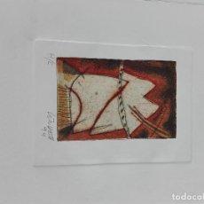 Arte: GRABADO SOBRE PAPEL DE JORGE LINDELL, FIRMADA. Lote 102331319