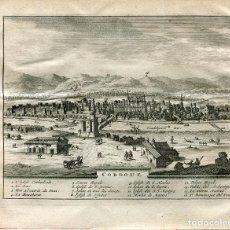Arte: CORDOBA. VISTA TOPOGRÁFICA. GRABADO POR PIETER VAN DER AA, 1715.. Lote 102441311