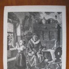 Arte: ABUELA OBSERVANDO A SU NIETA, 1878. Lote 102620359