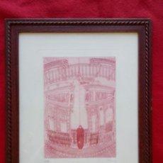 Arte: SEVILLA GRABADO EL RINCONCILLO 1989 46/99 43X33 CMS ENMARCADO. Lote 102676283