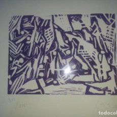 Arte: GRABADO AL LINOLEO DE VICTOR CASAS JULIAN. Lote 102761387