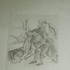 Arte: (M) GRABADO AIGUAFUERTE DE XAVIER NOGUES , EL SOMBRERO DE TRES PICOS 1934 , 52'5 X 32'5 CM. Lote 102812651