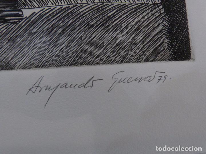 Arte: Armando Guerra (Vigo 1948) Grabado. - Foto 3 - 102933075