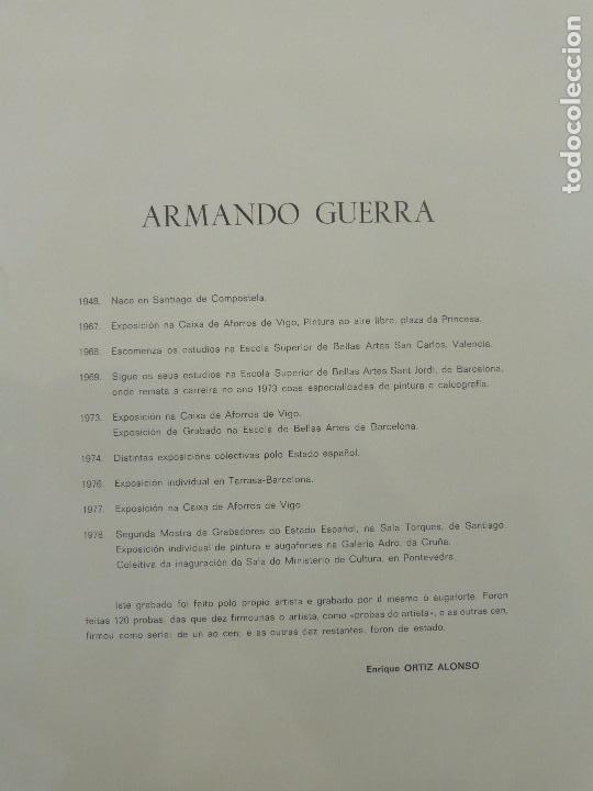 Arte: Armando Guerra (Vigo 1948) Grabado. - Foto 5 - 102933075