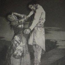 Arte: GOYA. AGUAFUERTE CAPRICHOS DE GOYA. M. SEGUÍ, SIGLO XIX. TITULO A CASA DE DIENTES. Lote 103054679
