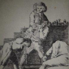 Arte: GOYA. AGUAFUERTE CAPRICHOS DE GOYA. M. SEGUÍ, SIGLO XIX. TITULO AL CONDE PALATINO. Lote 103056427