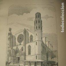 Arte: BARCELONA SANTA MARIA DEL MAR 1869 GRABADO POR ARTISTA INGLES 15 X 23 CMTS. Lote 103088135