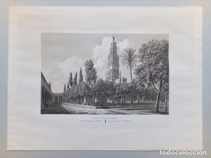 GRABADO DE PATIO DE LOS NARANJOS DE CORDOBA. (Arte - Grabados - Contemporáneos siglo XX)