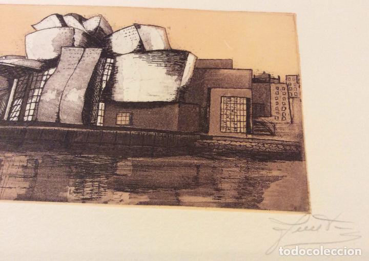 Arte: BILBAO METROPOLI -2001 ,CONJUNTO DE 4 AGUAFUERTES ,FIRMADOS Y NUMERADOS - Foto 4 - 103207631
