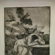 Arte: GRABADO ORIGINAL DE CÉSAR VELASCO, SEGÚN LA OBRA DE GOYA. Lote 103451655