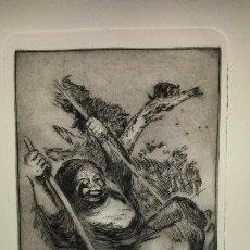 Arte: GRABADO ORIGINAL DE CÉSAR VELASCO, SEGÚN LA OBRA DE GOYA. Lote 103451879