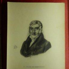 Arte: ANTIGUO GRABADO - D. JOSÉ DE BRUNET - SIN DETERMINAR - C. CARPENIER M.S.S SEBASTIAN ??? 12 X 17,5 CM. Lote 103455051