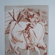 Arte: JOSÉ CABALLERO (HUELVA, 1916-MADRID, 1991) GRABADO 12X16 PAPEL DE 27X37CMS FIRMADO Y /180. Lote 89361932