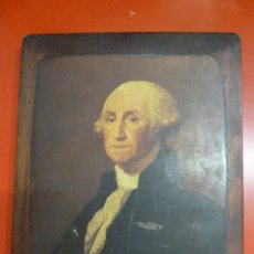 Arte: GEORGE WASHINGTON - PRINTS ON WOOD - GILBERT STUART. Lote 103793251