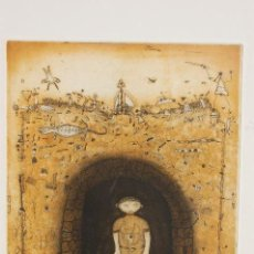 Arte: PACO AGUILAR (MÁLAGA 1959) GRABADO DE 1995 DE 24X32 PAPEL 38X56. FIRMADO A LÁPIZ 98/100.. Lote 103857119
