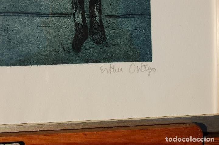 Arte: Esther Ortego (1934-2012). Grabado de 32x50 papel 48x62. Firmado a lápiz ejemplar 205/275 - Foto 4 - 103876651