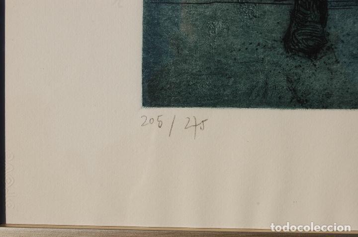 Arte: Esther Ortego (1934-2012). Grabado de 32x50 papel 48x62. Firmado a lápiz ejemplar 205/275 - Foto 5 - 103876651