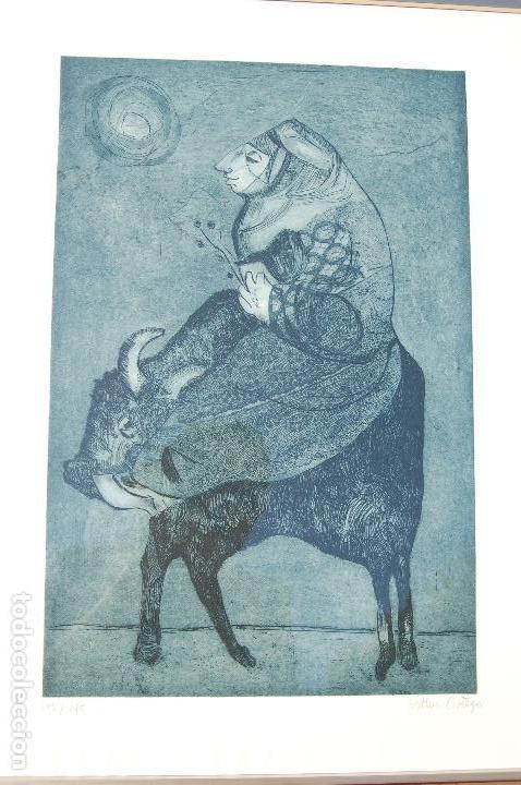Arte: Esther Ortego (1934-2012). Grabado de 32x50 papel 48x62. Firmado a lápiz ejemplar 205/275 - Foto 6 - 103876651