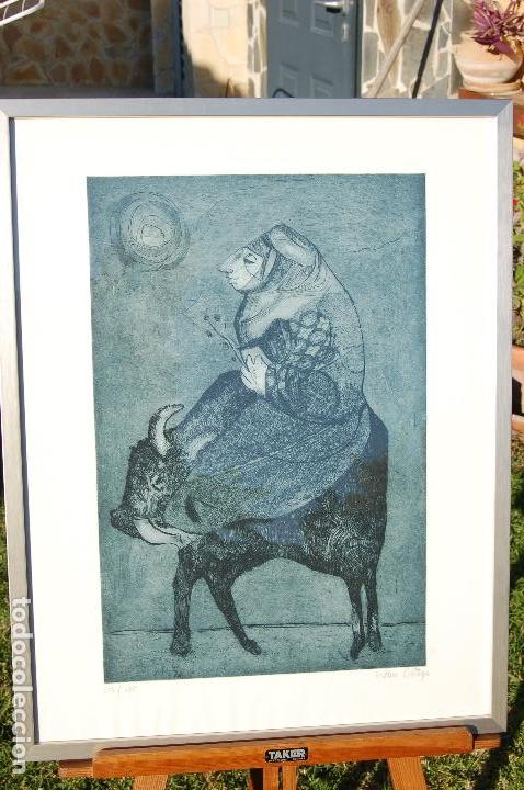 Arte: Esther Ortego (1934-2012). Grabado de 32x50 papel 48x62. Firmado a lápiz ejemplar 205/275 - Foto 7 - 103876651