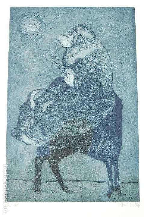 ESTHER ORTEGO (1934-2012). GRABADO DE 32X50 PAPEL 48X62. FIRMADO A LÁPIZ EJEMPLAR 205/275 (Arte - Grabados - Contemporáneos siglo XX)