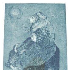 Arte: ESTHER ORTEGO (1934-2012). GRABADO DE 32X50 PAPEL 48X62. FIRMADO A LÁPIZ EJEMPLAR 205/275. Lote 103876651