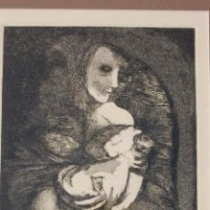 Arte: ESTHER ORTEGO (1934-2012). GRABADO DE 28X22 PAPEL 47X34. FIRMADO A LÁPIZ EJEMPLAR SIN NUMERAR.. Lote 103879227