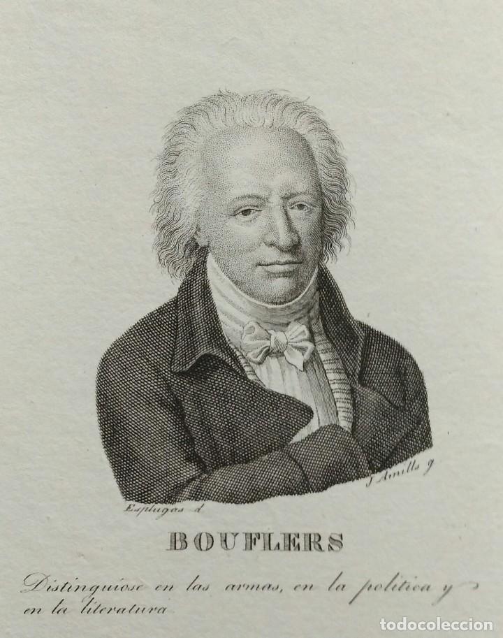 RETRATO DE BOUFFERS, AGUAFUERTE DE JUAN AMILLS. 1840 (Arte - Grabados - Modernos siglo XIX)