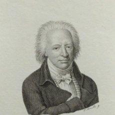 Arte: RETRATO DE BOUFFERS, AGUAFUERTE DE JUAN AMILLS. 1840. Lote 103968943