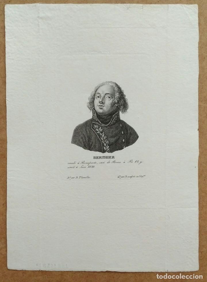 Arte: Retrato de Berthier, aguafuerte de Tomás Rocafort. 1840 - Foto 2 - 103969947