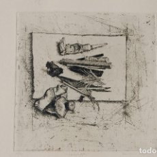Arte: PAULINE BRAAT. LEIDEN 1932, GRABADO AL AGUAFUERTE.TÍTULO:VOORWERPEN AÑO 1985.25,5X25,5 &65X50.16/20.. Lote 103988215