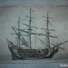 Arte: HOJA PERTENECIENTE AL LIBRO DICCIONARIO DE LAS ARTES DE LA PESCA 1795,ANTONIO SAÑEZ REGUART 34 X 24. Lote 104086027