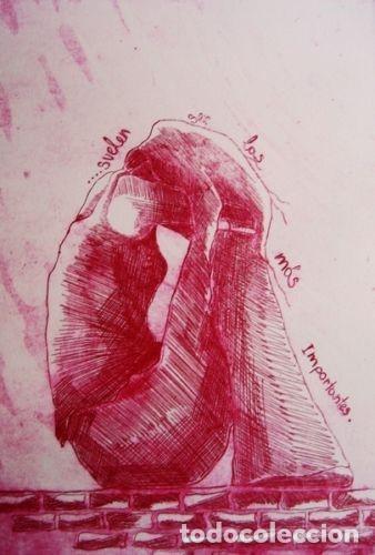 """Arte: ELENA RUBIO - COMPOSICIÓN DE CUATRO GRABADOS """"EL SILENCIO"""" 56x38 cm C/U COA - Foto 3 - 104181691"""