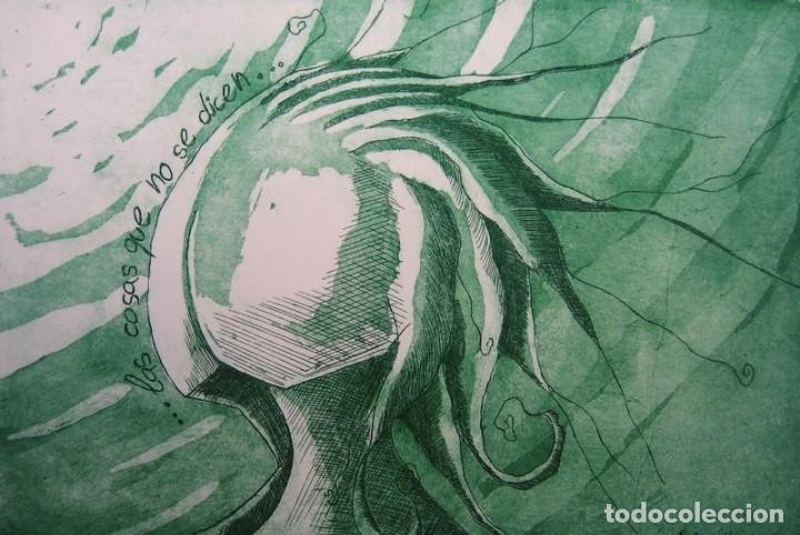 """Arte: ELENA RUBIO - COMPOSICIÓN DE CUATRO GRABADOS """"EL SILENCIO"""" 56x38 cm C/U COA - Foto 4 - 104181691"""