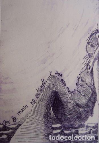 """Arte: ELENA RUBIO - COMPOSICIÓN DE CUATRO GRABADOS """"EL SILENCIO"""" 56x38 cm C/U COA - Foto 5 - 104181691"""