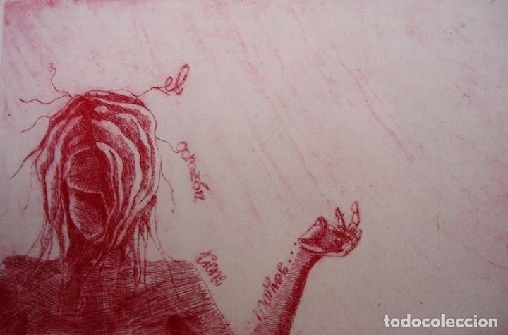 """Arte: ELENA RUBIO - COMPOSICIÓN DE CUATRO GRABADOS """"EL SILENCIO"""" 56x38 cm C/U COA - Foto 6 - 104181691"""