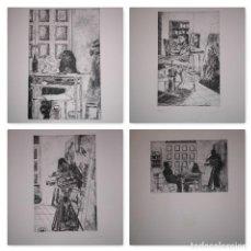 """Arte: FERNANDO CANELÓN - COMPOSICIÓN DE CUATRO GRABADOS """"EL KE KIERA.."""" 56X38 CM C/U . Lote 104182055"""