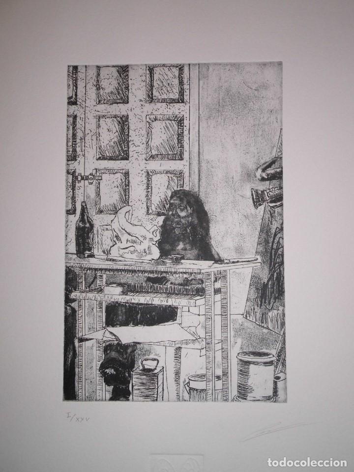 """Arte: Fernando Canelón - COMPOSICIÓN DE CUATRO GRABADOS """"El Ke Kiera.."""" 56x38 cm C/U - Foto 2 - 104182055"""