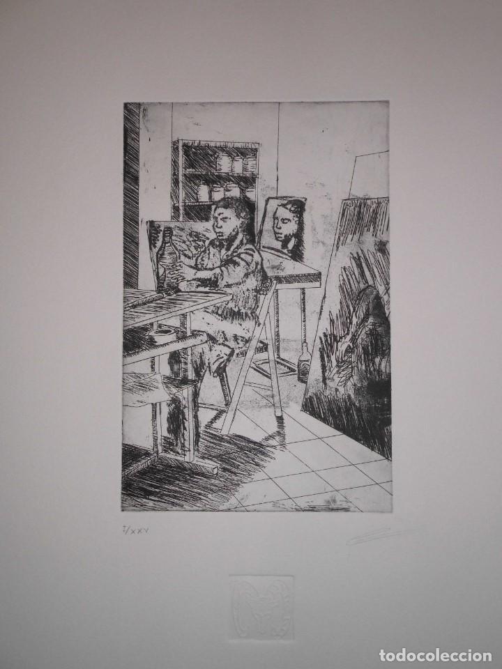 """Arte: Fernando Canelón - COMPOSICIÓN DE CUATRO GRABADOS """"El Ke Kiera.."""" 56x38 cm C/U - Foto 3 - 104182055"""