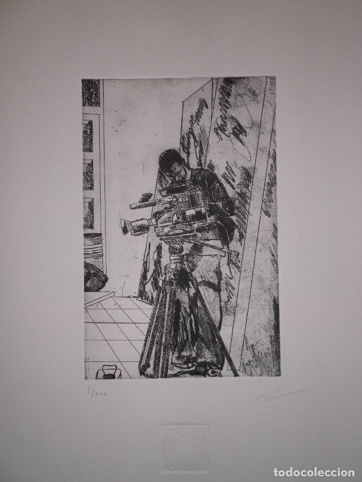 """Arte: Fernando Canelón - COMPOSICIÓN DE CUATRO GRABADOS """"El Ke Kiera.."""" 56x38 cm C/U - Foto 4 - 104182055"""