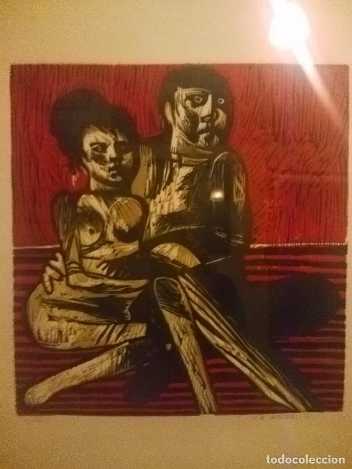 GRABADO DE JOSE ANTONIO ALCACER (Arte - Grabados - Contemporáneos siglo XX)