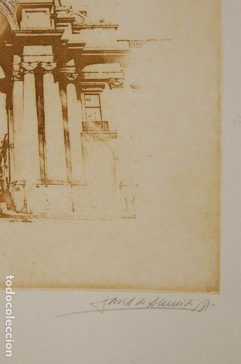 Arte: David de Almeida (Portugal 1945-2014). Aguafuerte y serifrafía. 1981. 50x32 en 65x50. 162/199.Perfec - Foto 3 - 104382055