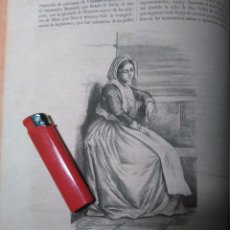Arte: GRABADO ORIGINAL - AÑO 1868 - PESCADORA TRAJE TIPICO DE ROMA. Lote 104766659