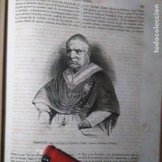 Arte: GRABADO ORIGINAL - AÑO 1868 - DON LUIS DE LASTRA Y CUESTA CARDENAL ARZOBISPO DE SEVILLA. Lote 104768927