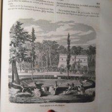 Arte: GRABADO ORIGINAL - AÑO 1868 - FIESTA POPULAR DE LA VILLA BORGHESE - CARRERAS DE CABALLOS. Lote 211602114