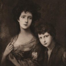 Arte: FOTOGRABADO GRAN FOLIO, ELIZABETH Y THOMAS LINLEY DE GAINSBOROUGH, ORIGINAL, BELLE ÉPOQUE, 1903. Lote 104943699