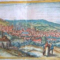 Arte: GRABADO ANTIGUO BURGOS AÑO 1563 CON CERTIF. AUTENTIC. CIVITATES ORBIS TERRARUM BRAUM&HOGEMBERG. Lote 105009855