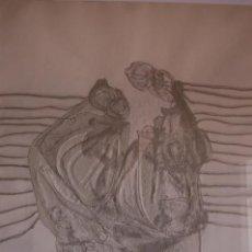 Arte: ENRIC CORMENZANA(BARCELONA 1948) GRABADO GOFRADO DE76X56 51/75 FIRMADO LÁPIZ PERSONAJEVI. PERFECTO.. Lote 104795367