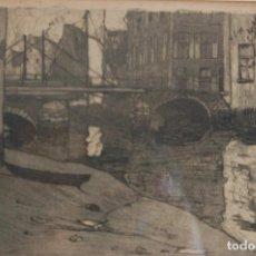 Arte: MARTEN VAN DER LOO (BELGIAN 1880-1920). GRABADO DE 25X20 ENMARCADO EN 38X35.BUEN ESTADO.. Lote 105084687