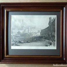 Arte: PLAZA DE TOROS DE SEVILLA EN 1833, GOYESCA,GRABADO POR DAVID ROBERTS. Lote 105096939
